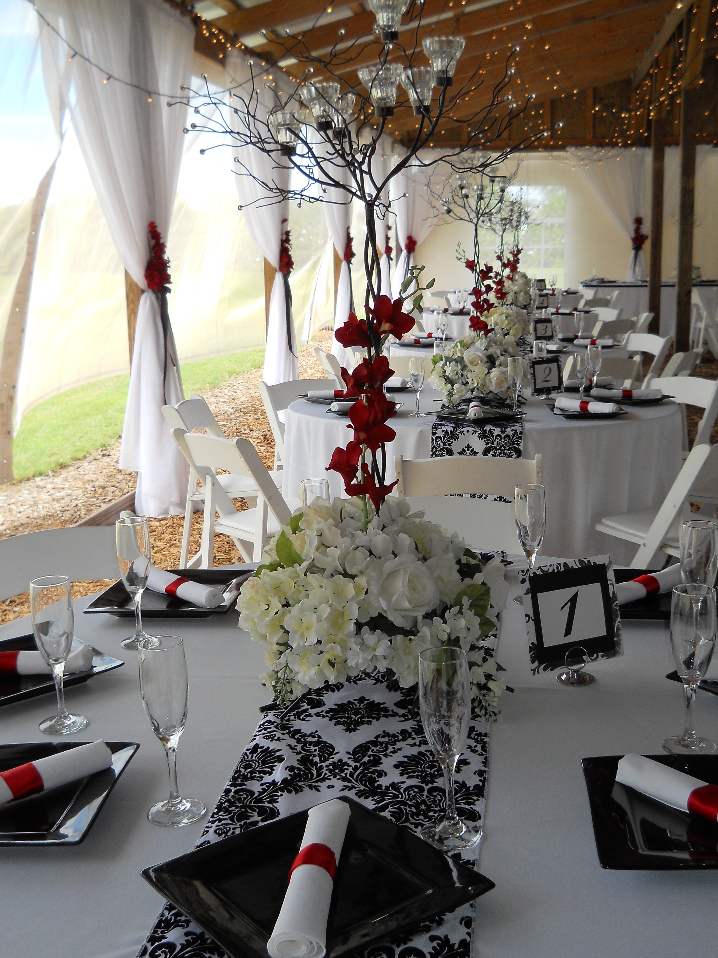 Black, White and Red Wedding | Emilee's Journey